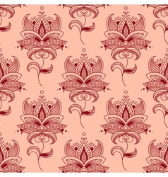 Red paisley seamless pattern vector image