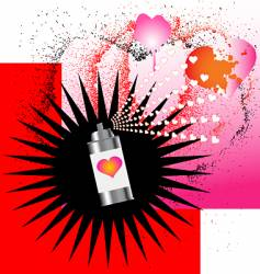 Spray on love vector