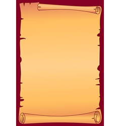 Parchment scroll vector