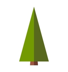 Fir-tree flat sign vector
