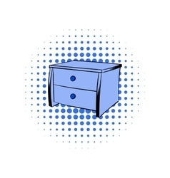 Blue chest comics icon vector
