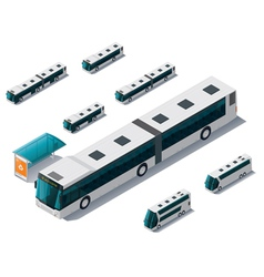 Isometric bus set vector