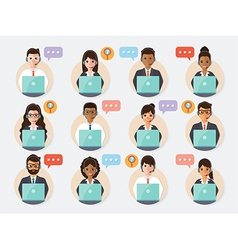 Call center and customer service people vector