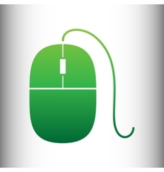 Mouse sign green gradient icon vector