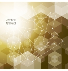 Abstract polygonal space hexagonal background with vector