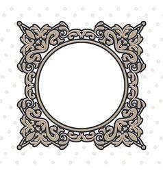 Vintage frame round vector