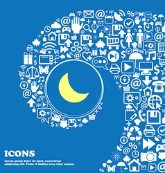 Moon icon nice set of beautiful icons twisted vector
