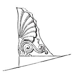 Acroteria or roof-pedestal vintage engraving vector