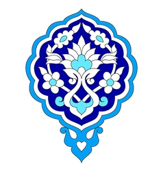 Artistic ottoman pattern series seventy seven vector