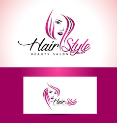 Beauty Salon Logo Design vector image