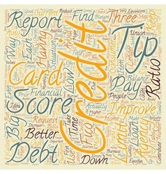 Better Credit Scores Tips text background vector image