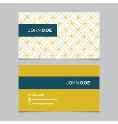 business card pattern yellow 08 vector image vector image
