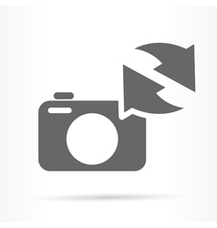 camera image update symbol icon vector image vector image