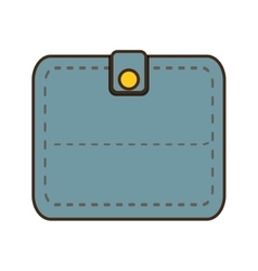 Cartoon blue wallet save money icon vector