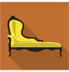 Digital vintage black and yellow sofa vector image