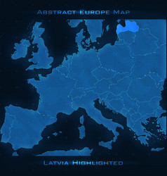 Europe abstract map latvia vector