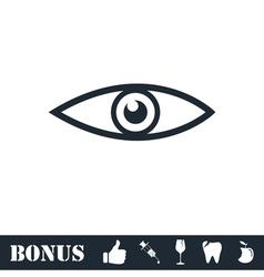 Eye icon flat vector image vector image