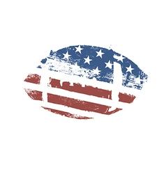 Grunge American football ball US flag themed ball vector image