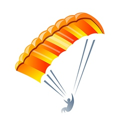 Icon parachute vector