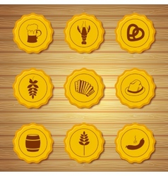icons of beer caps vector image vector image