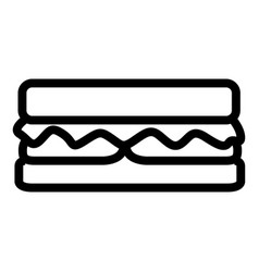 isolated sandwich icon vector image