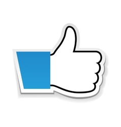 Like us thumb up vector image vector image