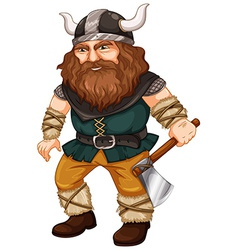 Man viking vector image