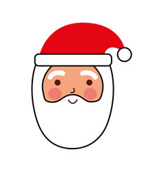 merry christmas santa claus with hat cartoon vector image