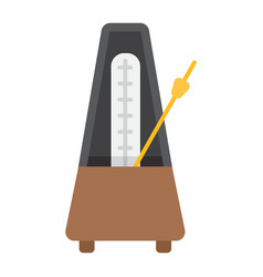 Metronome flat icon music and instrument vector