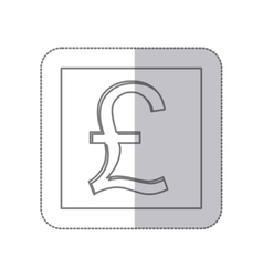 middle shadow monochrome square with currency vector image vector image