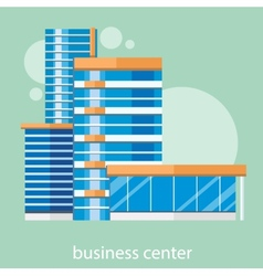Modern business center vector image