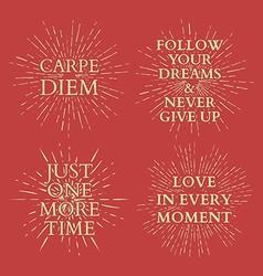 Motivational quotes on sun burst t-shirt print vector