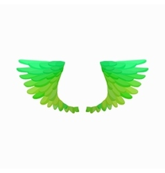 Pair of green bird wings icon cartoon style vector image vector image