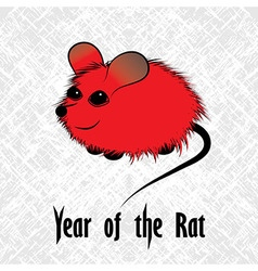 Rat mouse chinese horoscope animal sign the art vector