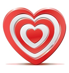 Red heart target aim vector image vector image