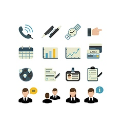Set of businnes icons vector