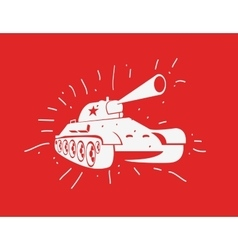 Silhouette of the soviet tank vector