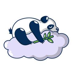 sleeping panda icon cartoon style vector image