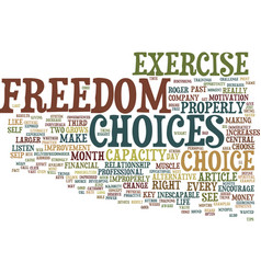 The big key to freedom text background word cloud vector