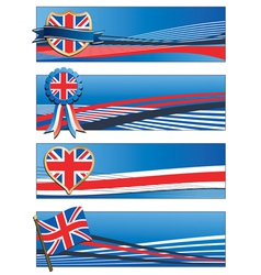 uk banners vector image