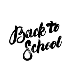 Back to school hand written lettering calligraphy vector