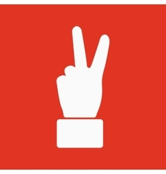 The hand showing victory gesture icon victoty vector