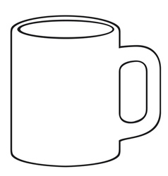coffee mug-white cup vector image