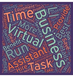 Benefits of virtual assistance text background vector
