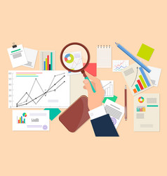 Business analyst financial data analysis web icon vector