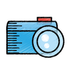 photo camera picture sketch vector image