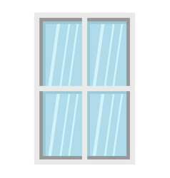 white rectangle window icon isolated vector image