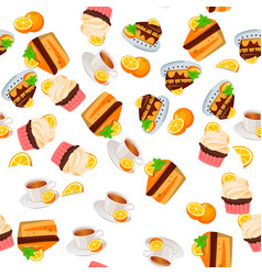 orange cake or pie vector image