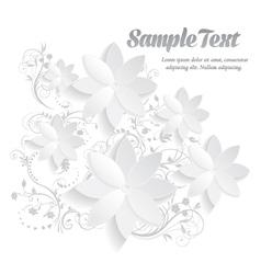 3d paper floral elements vector