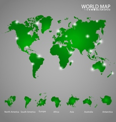 Modern world map vector